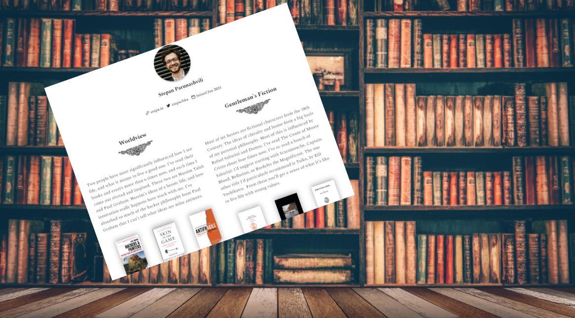 Zeneca, una excelente forma de mostrar los libros que hemos leído