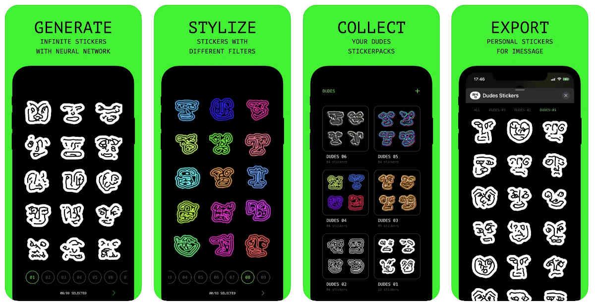 Stickers generados por IA para usar en apps de mensajería