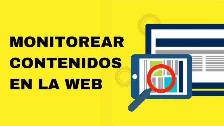 Monitorear contenidos web
