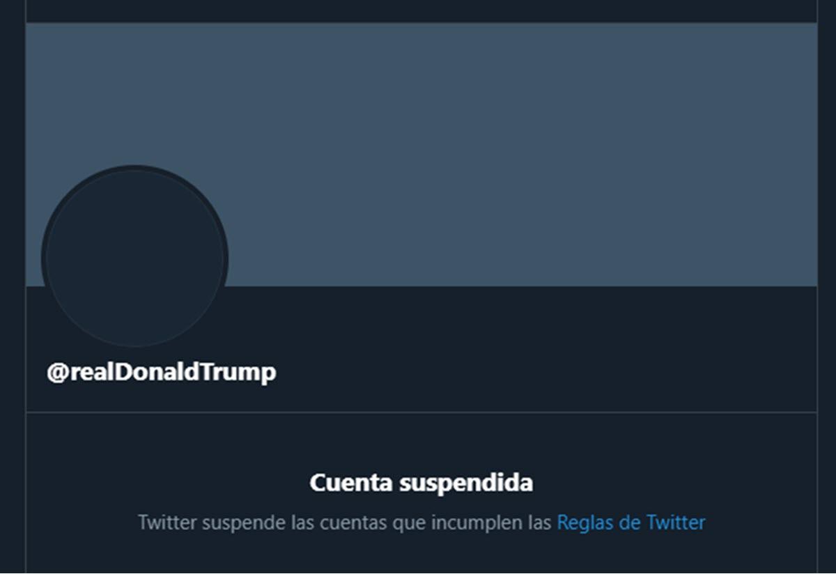 Twitter suspende la cuenta de Donald Trump de forma permanente