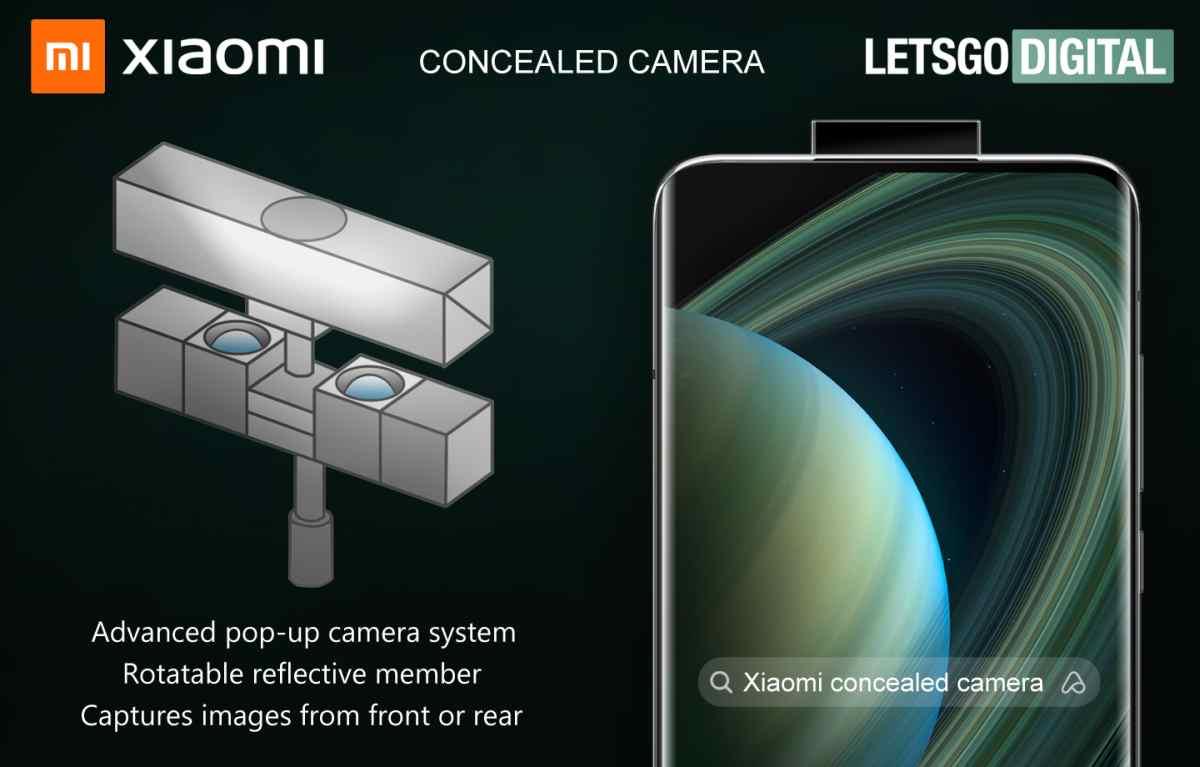 Xiaomi patenta curioso módulo de cámara emergente para móviles