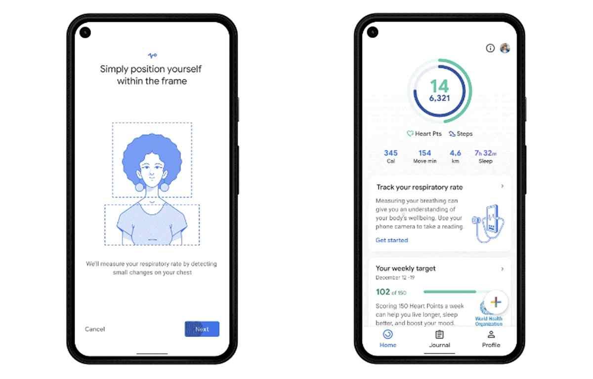 Google Fit podrá medir la frecuencia respiratoria y cardíaca, comenzando en los Pixel