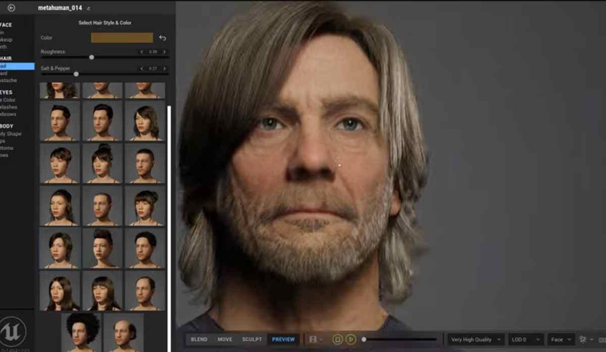 Así es MetaHuman Creator, la nueva herramienta de Epic para crear personajes muy realistas