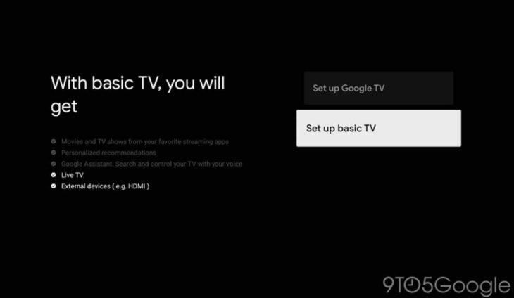 Nuevo Modo Básico para Google TV