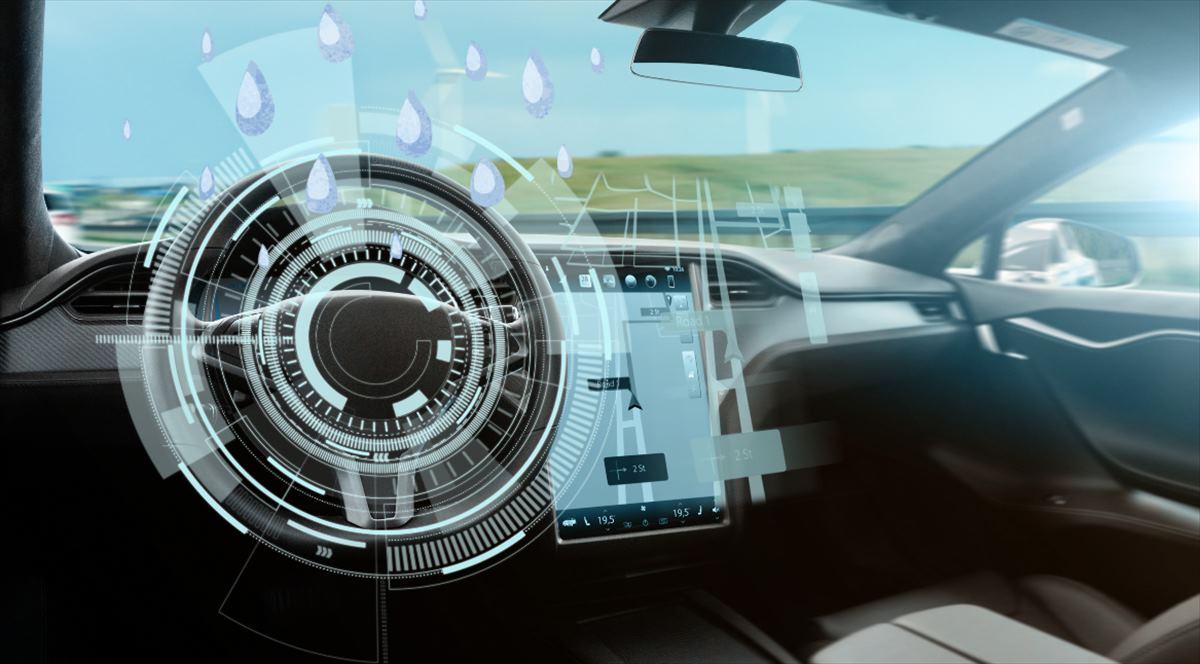 El efecto de la lluvia en los coches autónomos