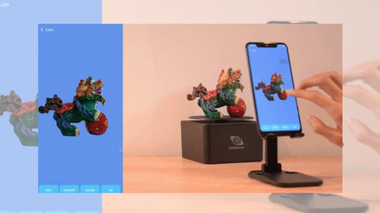Un escáner 3D que digitaliza una figura en 20 segundos