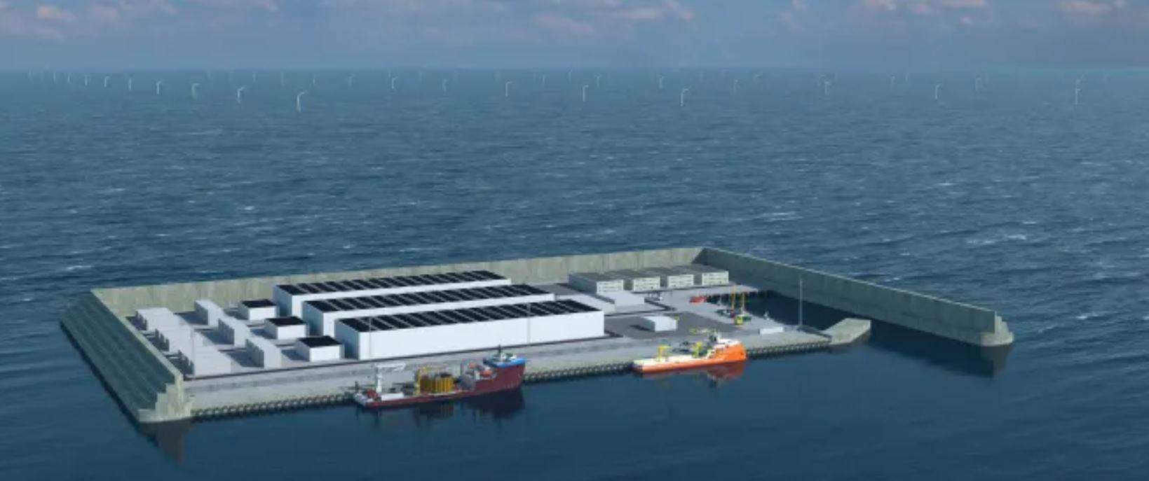 Una isla artificial generadora de energía verde