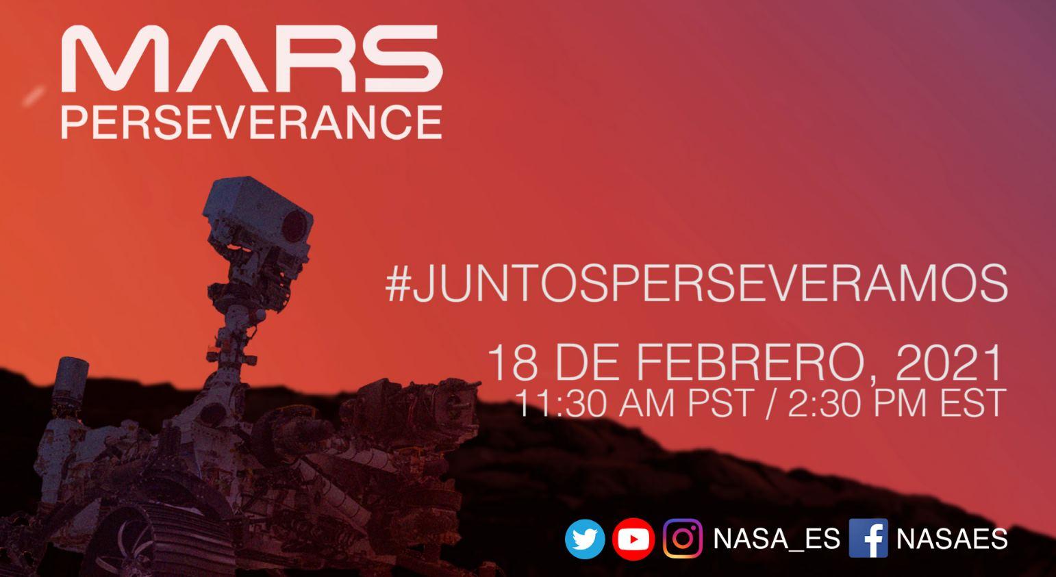 La NASA transmitirá en español el aterrizaje del Rover Mars Perseverance