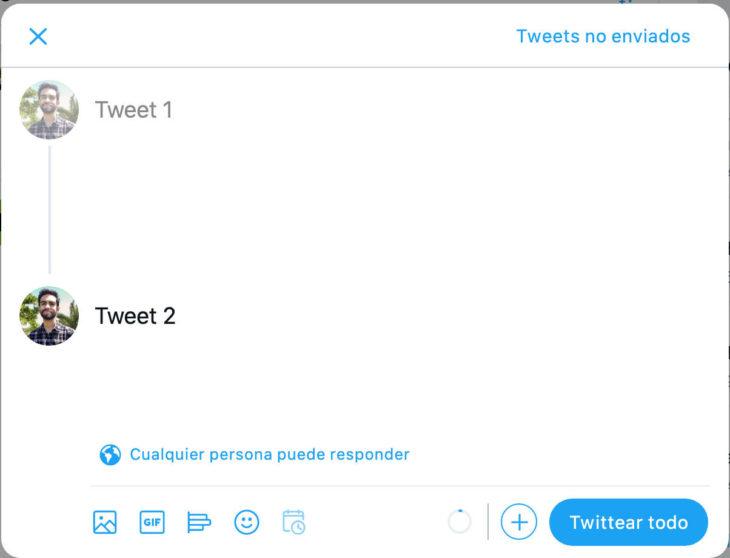 Hilo de Twitter