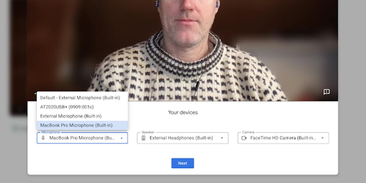 Google Meet permite verificar la configuración de tu equipo antes de unirte a una reunión