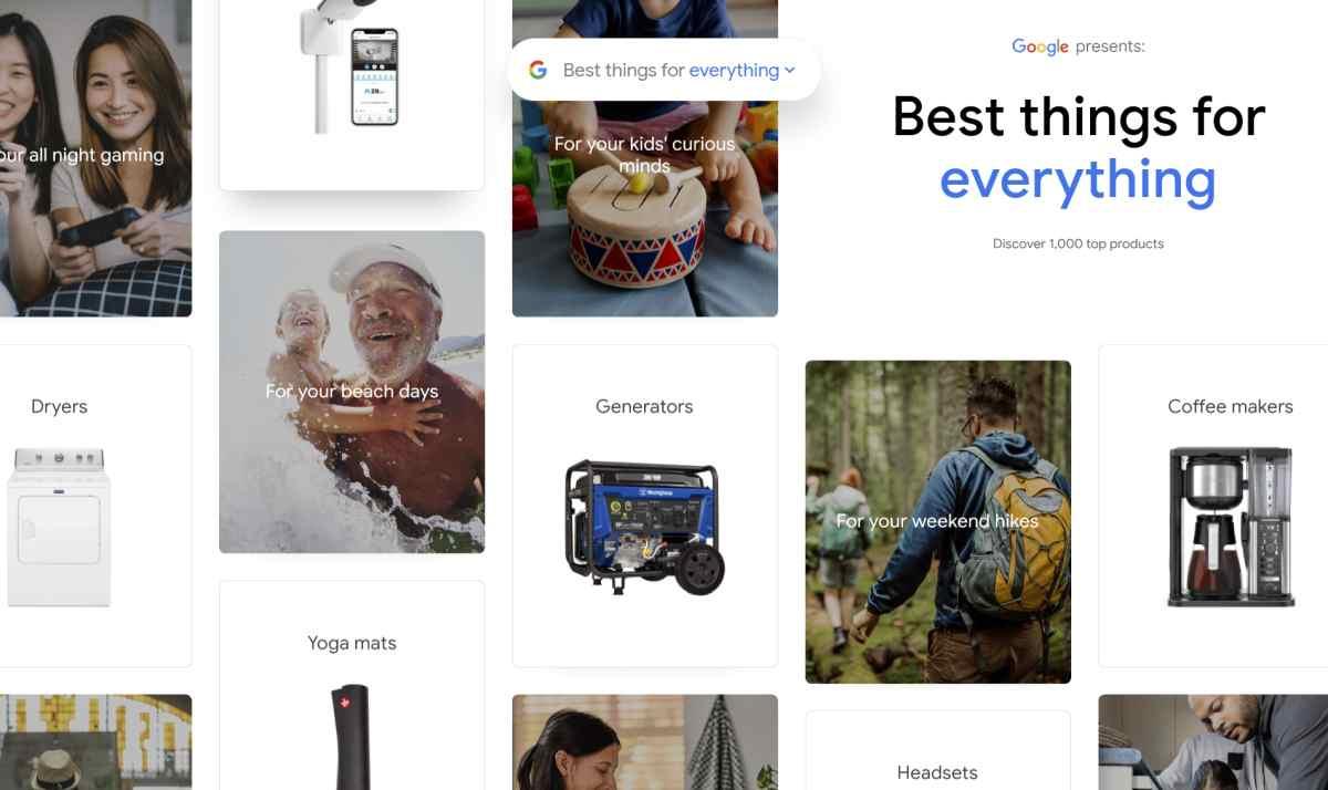 Google lanza una guía con los 1.000 mejores productos acorde a su popularidad en la web