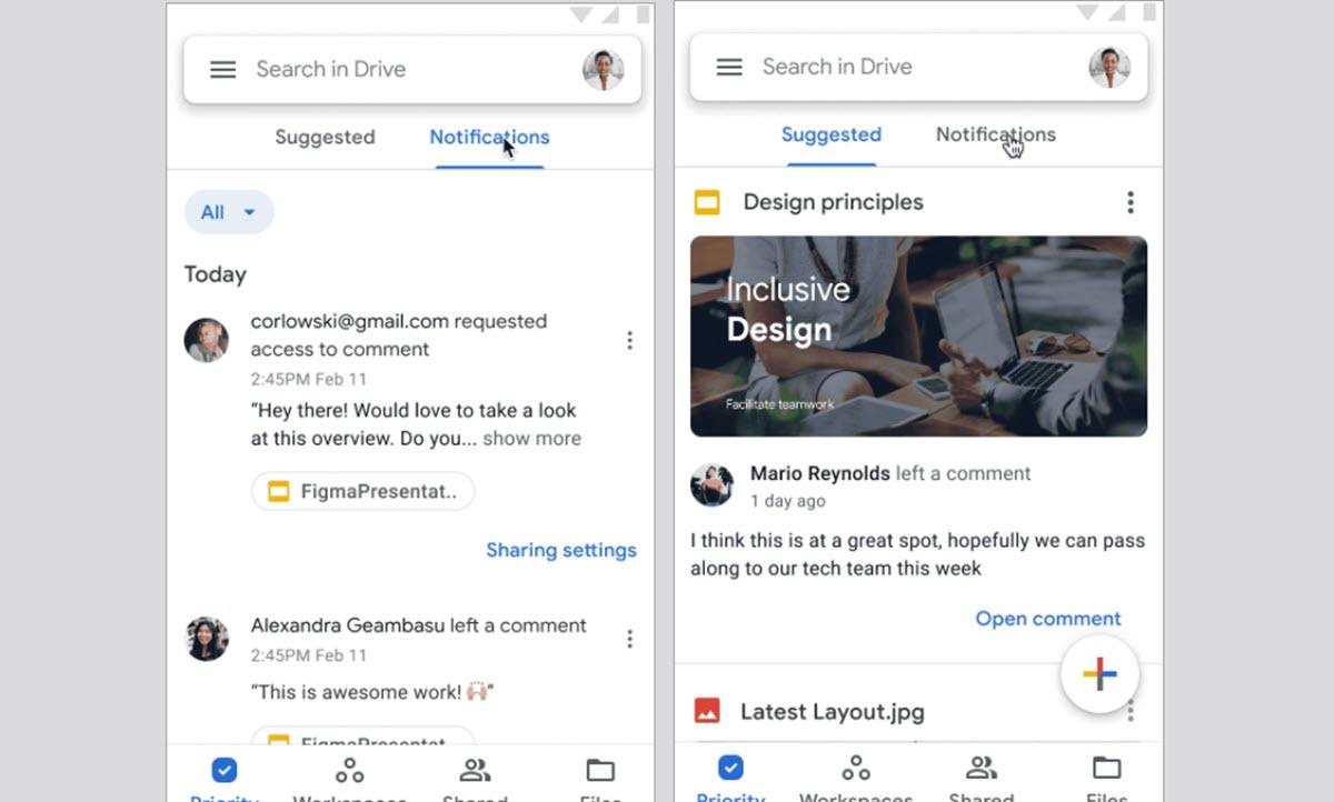 Google Drive tiene un nuevo sistema de notificaciones en Android