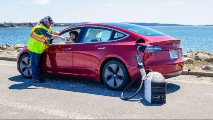 Para cargar el coche eléctrico en cualquier lugar