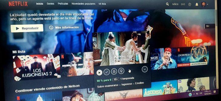 Quitar avances de Netflix