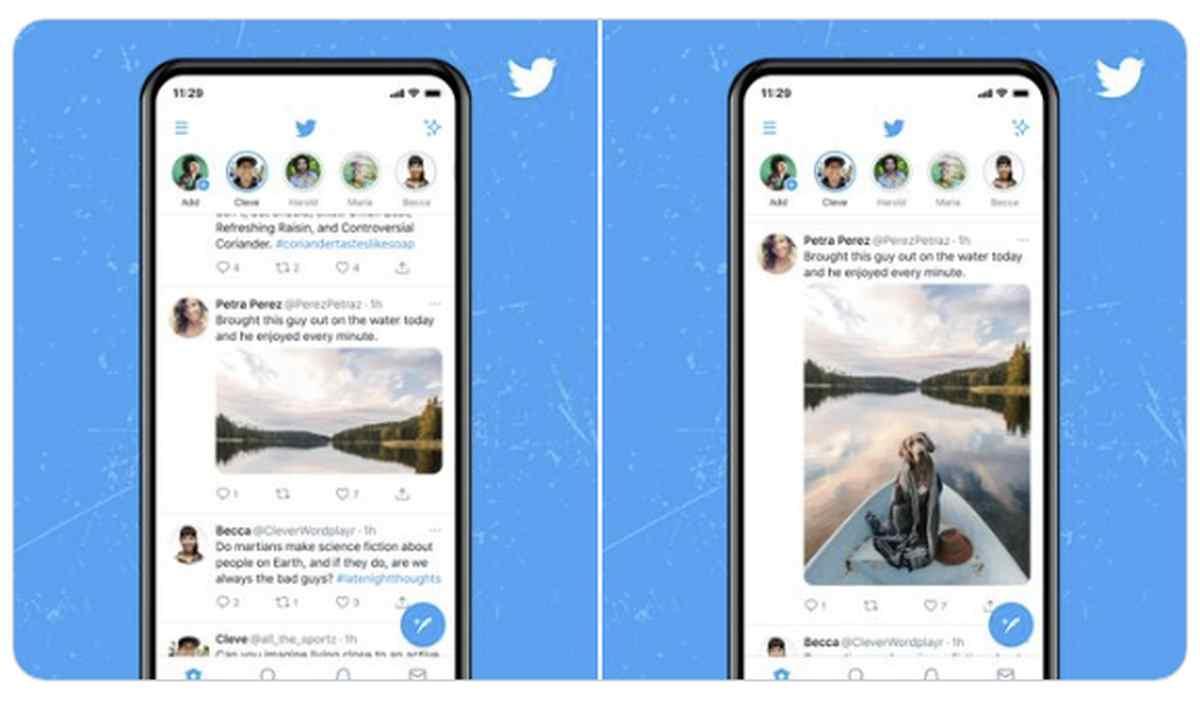 Twitter prueba nuevos modos de visualización de imágenes en móviles