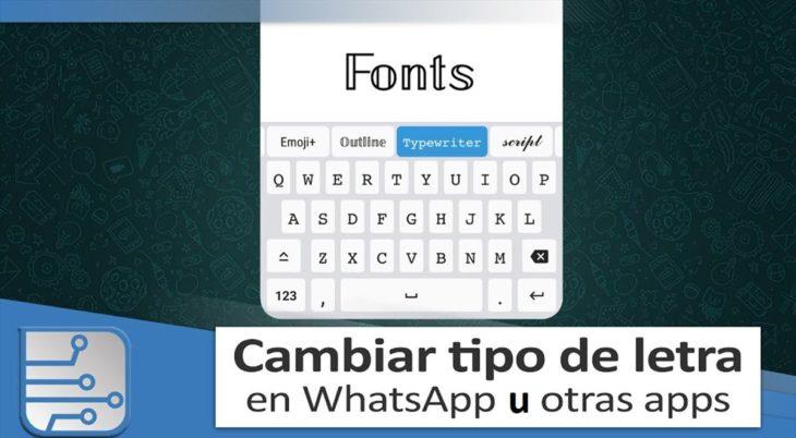 whatsapp tipografía