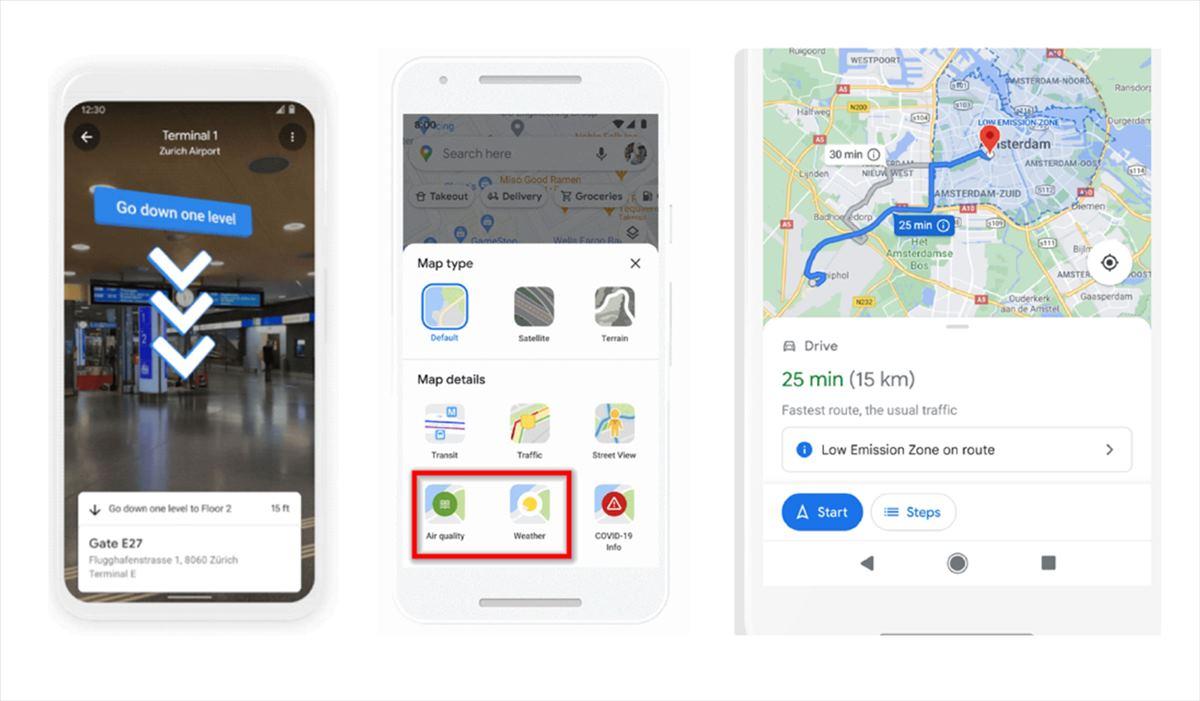 Google Maps presentará más de 100 nuevas funcionalidades, incluyendo navegación AR por Interiores