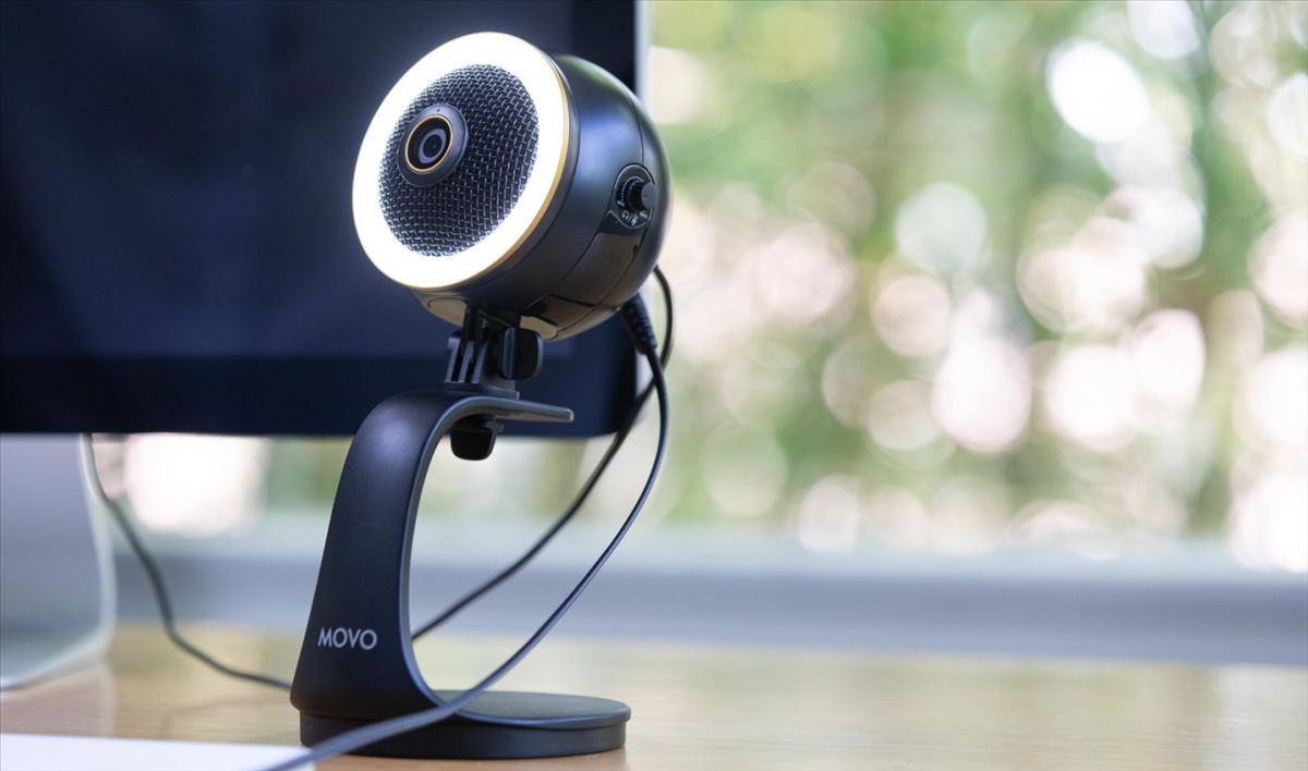 webcam con luz
