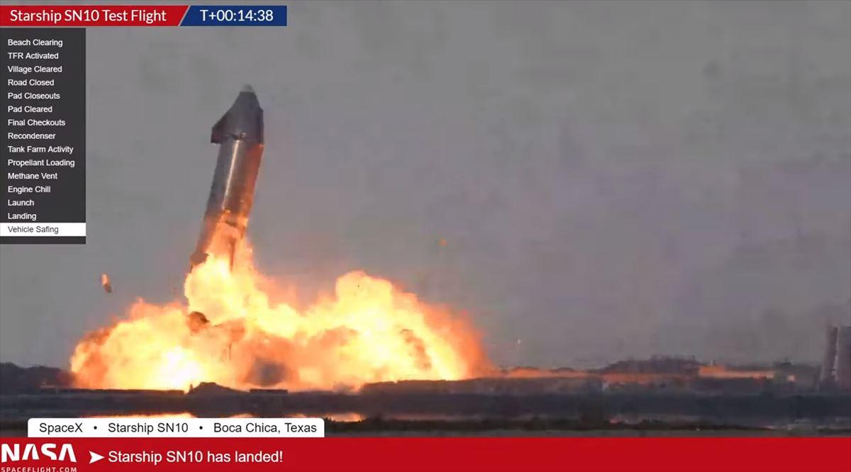 Una fuga de metano hace explotar la última nave de Elon Musk