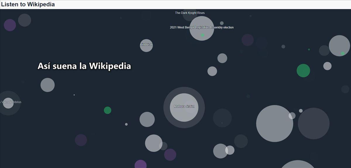 Si cada edición de la Wikipedia generara un sonido, esta sería la canción