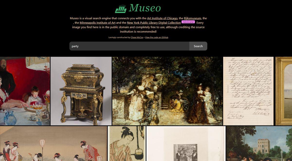 Museo, un buscador de obras de arte de dominio público