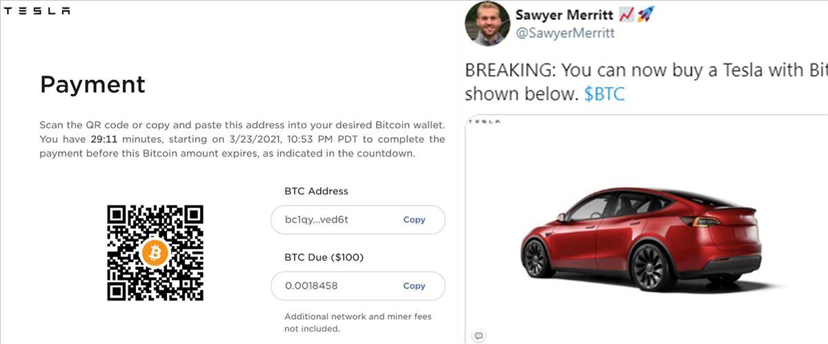 Ya podemos comprar un Tesla con Bitcoin