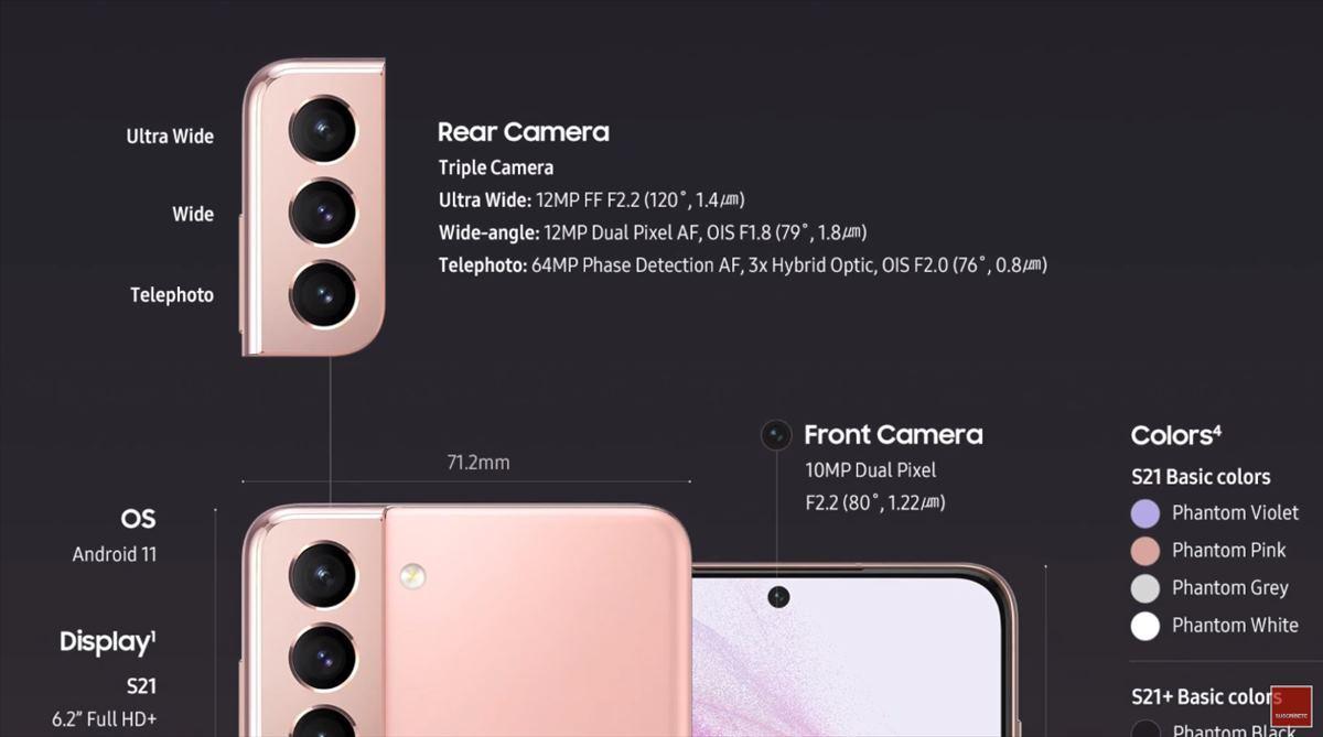 Así es la cámara del gama alta Samsung Galaxy S21