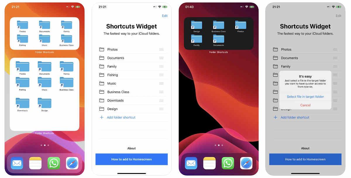 Cómo añadir accesos directos a carpetas en la pantalla principal de iOS