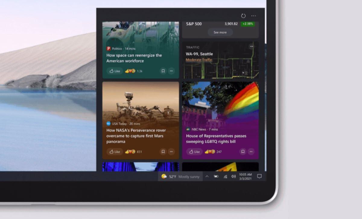 Microsoft cambia la forma de mostrar las noticias en Windows 10