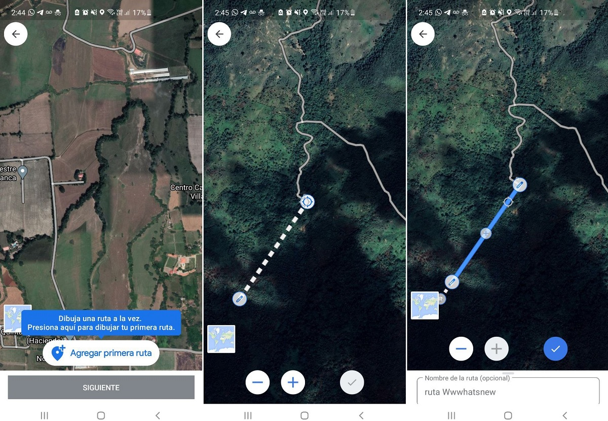 Crear ruta de senderismo Maps