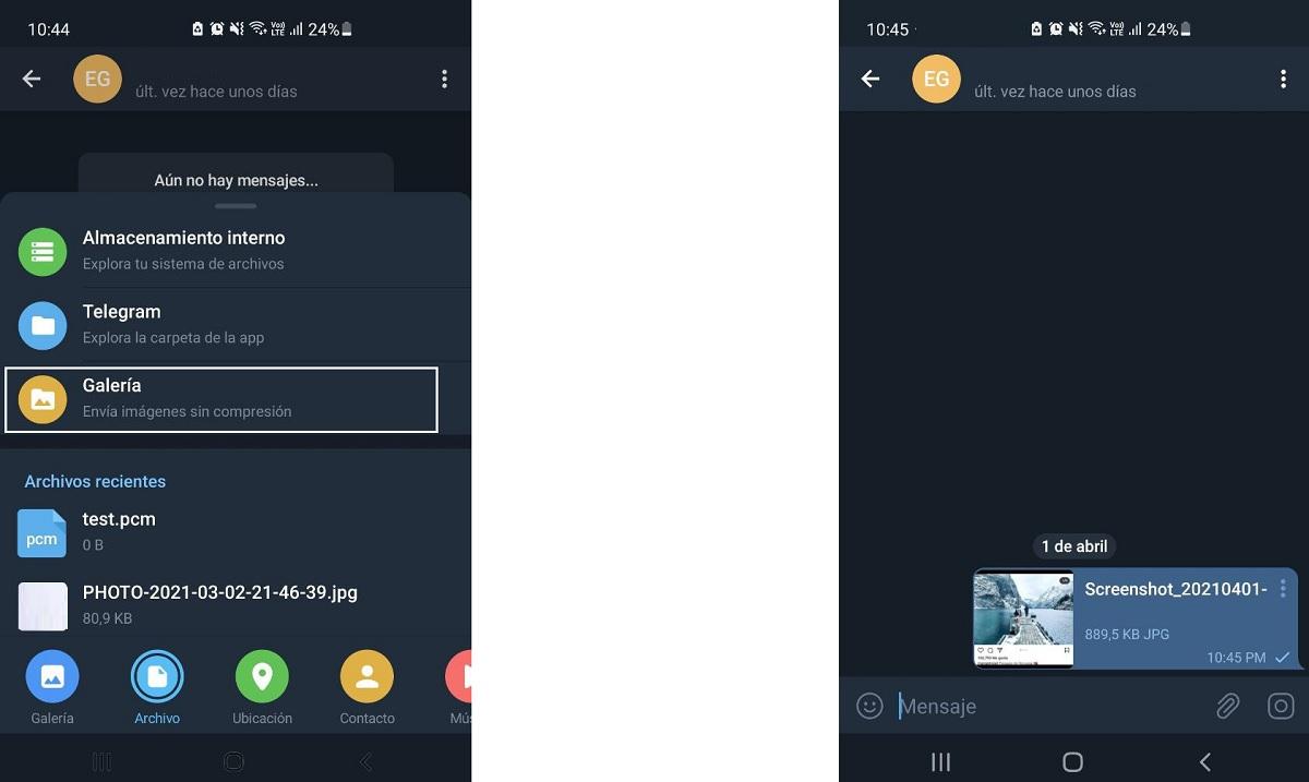 Enviar fotos en Telegram sin perder calidad