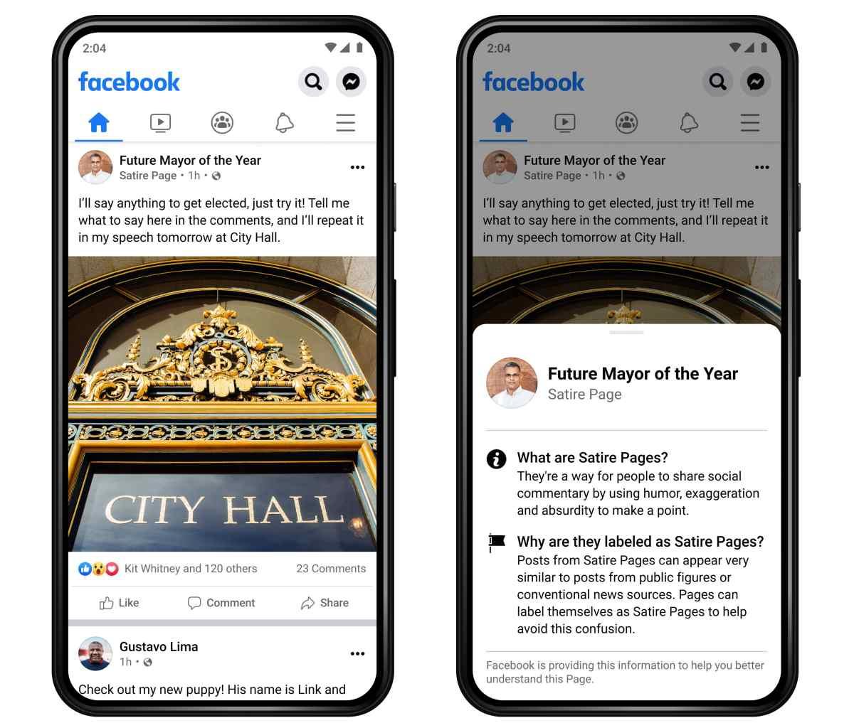 Facebook quiere diferenciar las publicaciones satíricas de las de noticias reales