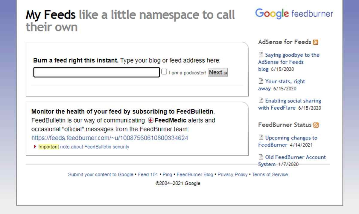 FeedBurner empezará a modernizarse, pero pierde su servicio de email