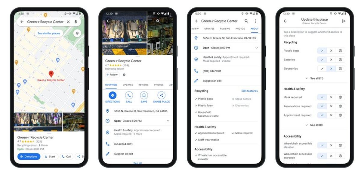 Google Maps ahora permite buscar información sobre lugares de reciclaje