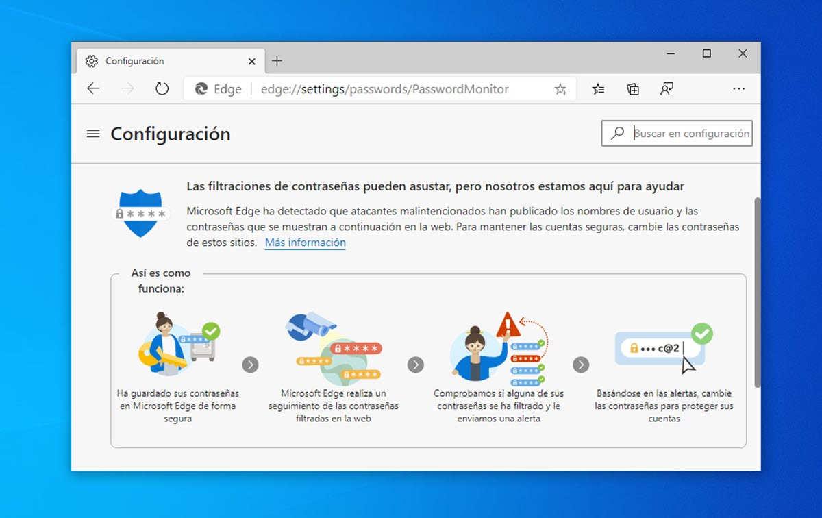 Microsoft Edge añade más seguridad a su sistema de contraseñas