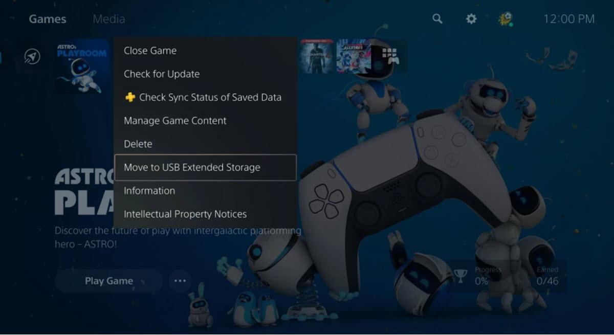 PlayStation 5 ahora permite almacenar los juegos en un dispositivo USB