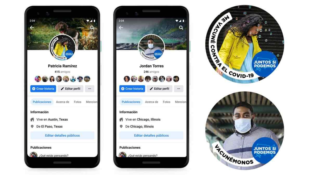 Facebook lanza sus marcos de perfil oficiales en apoyo de la vacunación anti Covid-19