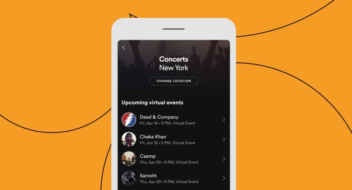 Spotify facilita mantenerse al día con los eventos virtuales de los artistas