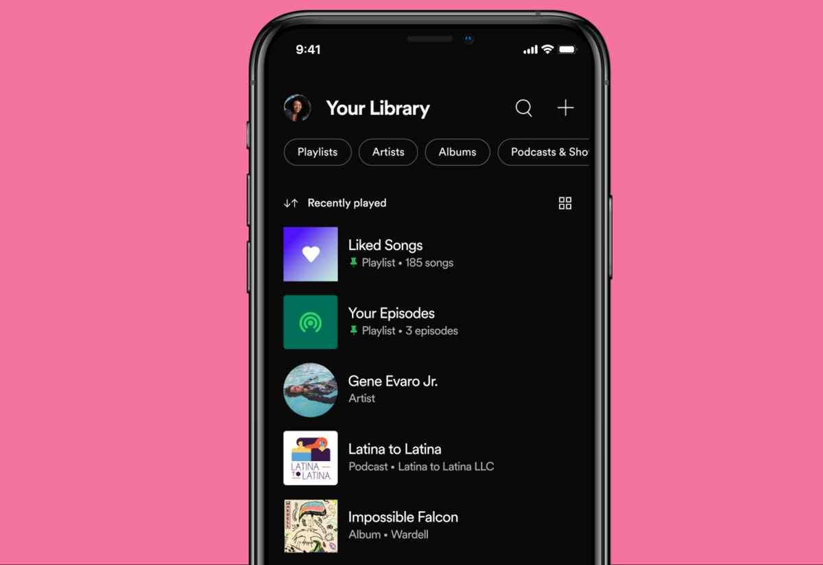 Spotify hace más fácil la navegación por la colección de música y podcasts