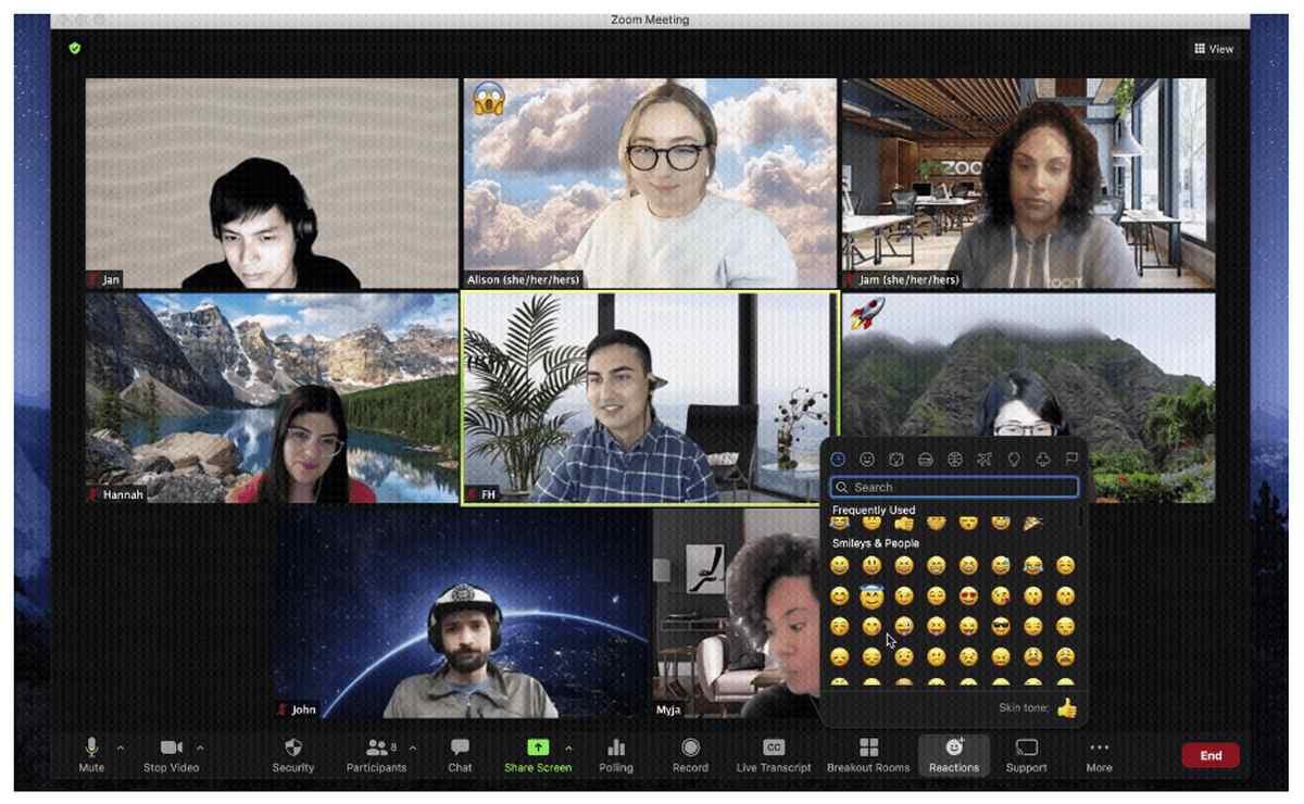 Emojis de Reacción en las Reuniones con Zoom