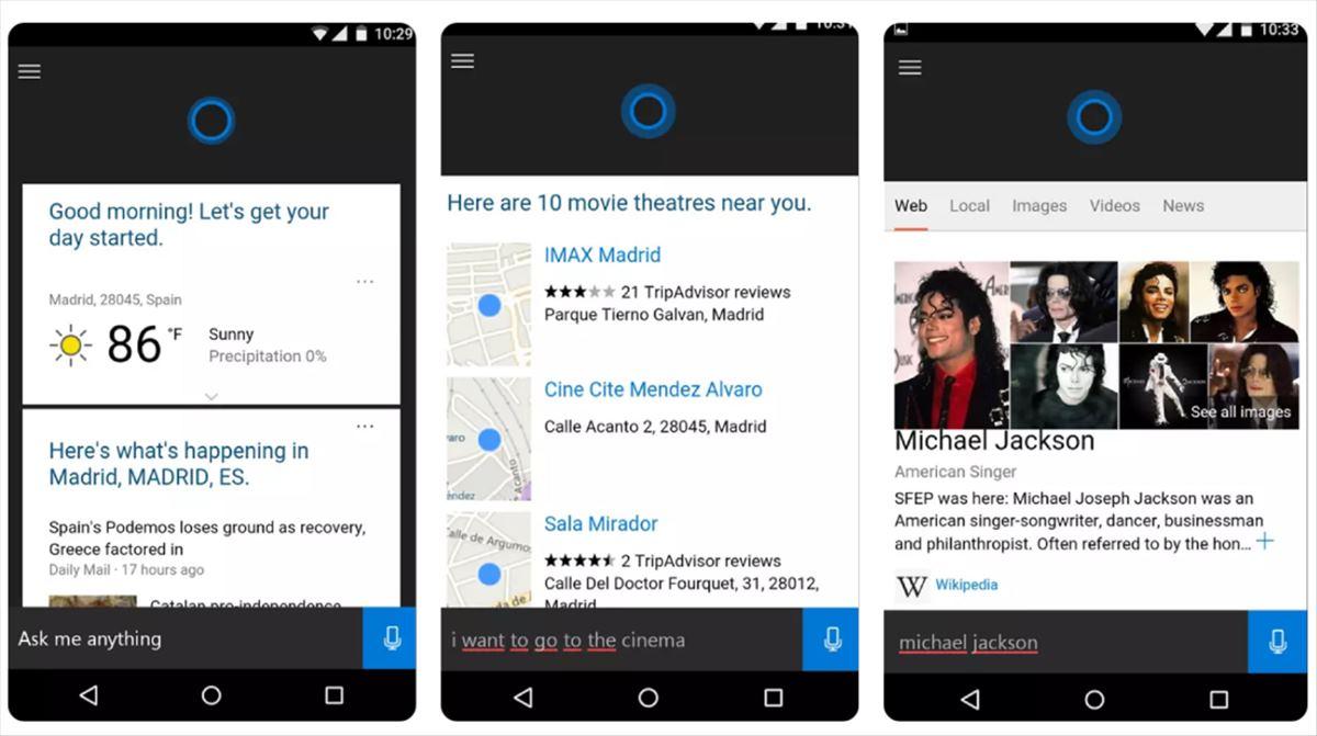 Microsoft elimina a su asistente Cortana de las tiendas de iOS y de Android