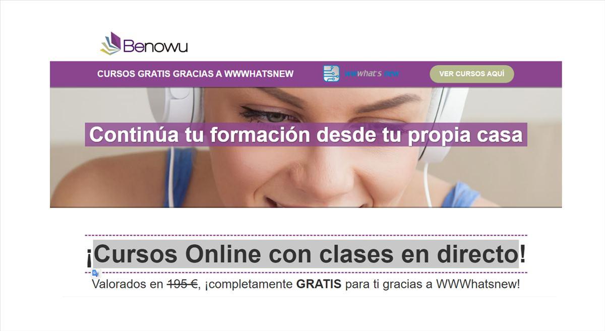 Cursos Online con clases en directo para lectores de WWWhatsnew