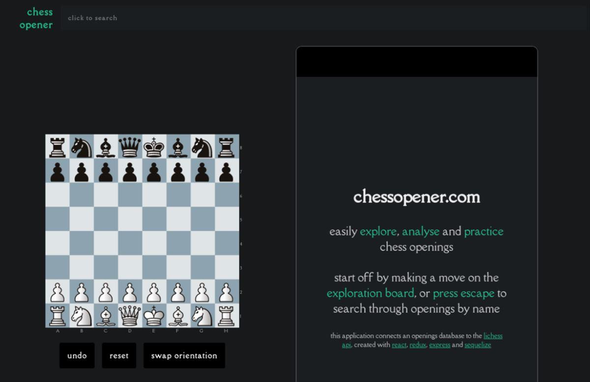 Chess Opener, para analizar aperturas de ajedrez desde la web