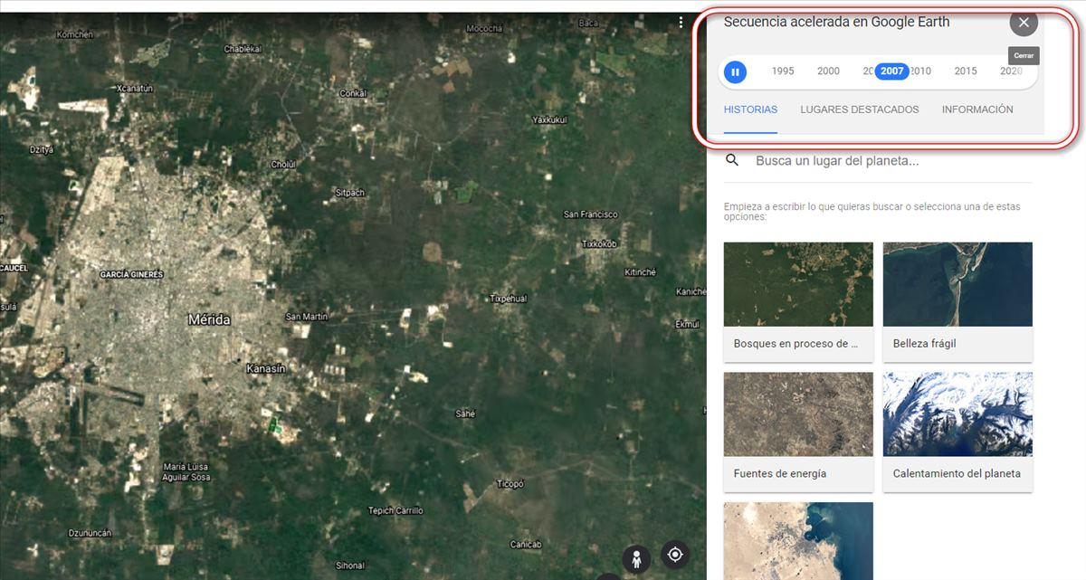 Google Earth presenta su Timelapse, para ver la evolución de cualquier zona del planeta en los últimos 37 años