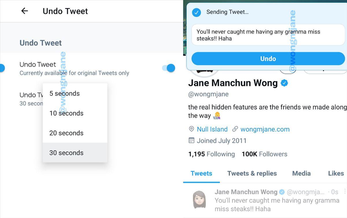 Podremos deshacer un tweet durante los 30 segundos después de su publicación