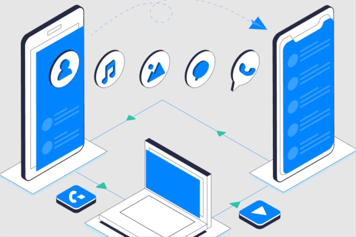 MobileTrans, para copiar archivos, y Whatsapp, de un móvil android a un iPhone o viceversa