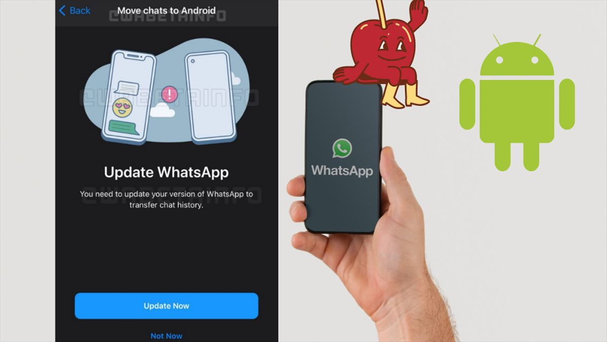 whatsapp apple android