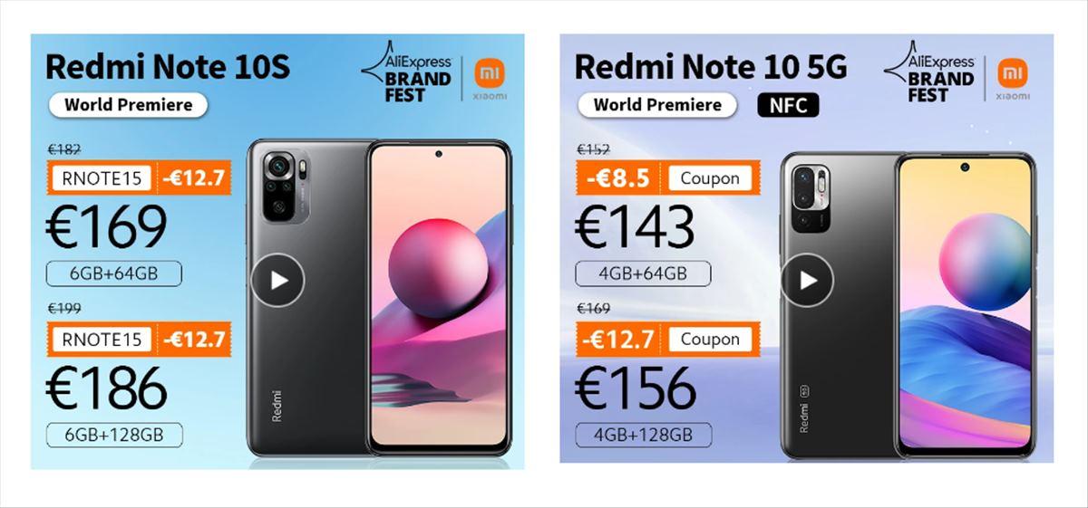 Xiaomi Redmi Note 10S y 10 5G, ya disponibles en todo el mundo