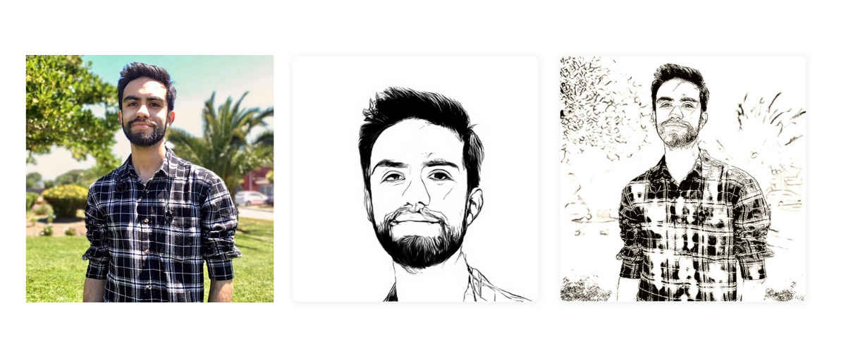 Inteligencia artificial para transformar fotografías en dibujos, gratis y desde la web