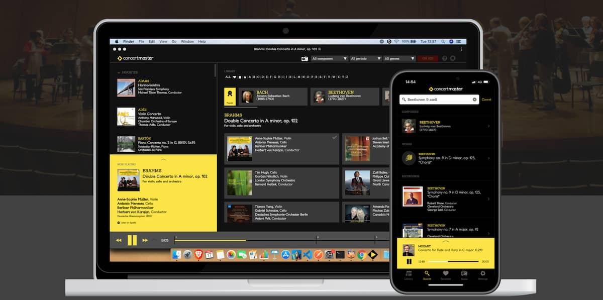 Un reproductor especial, para escuchar cómodamente música clásica en Spotify y Apple Music